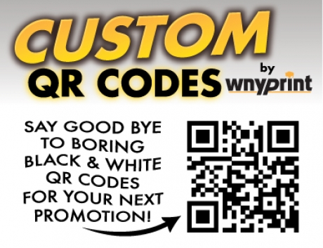 CHECK IT OUT!  WE NOW CREATE CUSTOM QR CODES!